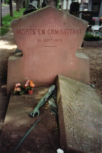 The Voulminot monument, Colmar cemetery, designed by the sculptor of the Statue of Liberty