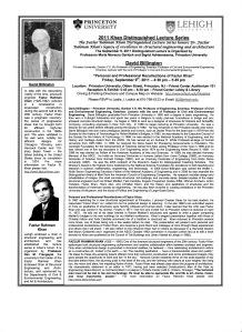 David Billington lecture at Princeton