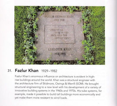 Fazlur Khan, in A Walk Through Graceland Cemetery, A Chicago Architecture Foundation Tour