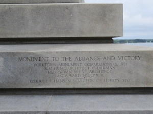 Victory Monument at Yorktown