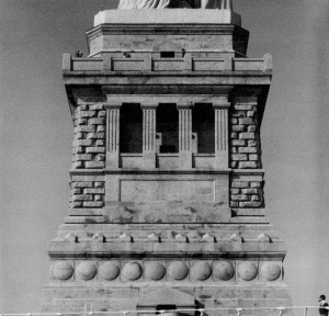 Pedestal of the Statue of Liberty, designed by Richard Morris Hunt